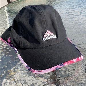 Black and Pink Adidas Soft Baseball Cap/Hat